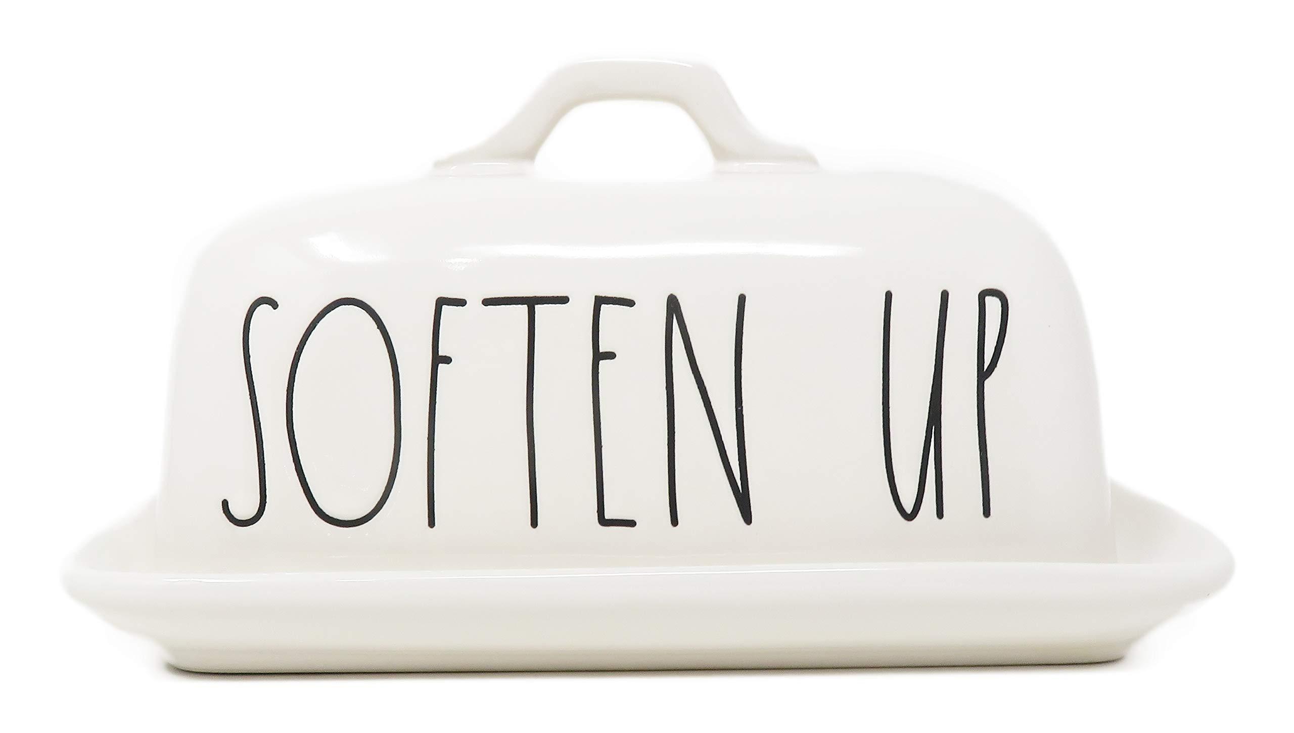 Rae Dunn By Magenta SOFTEN UP Ceramic LL Butter Dish