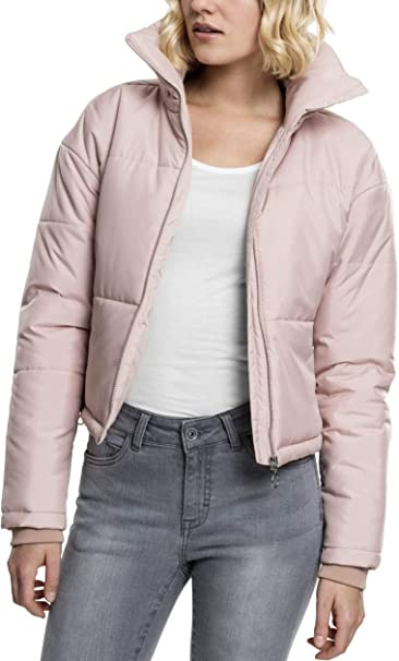 TALLA L. Urban Classics Ladies Oversized High Neck Jacket Chaqueta Corta para Mujer