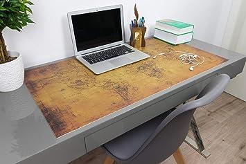 Vintage Schreibtischunterlage alte Weltkarte von deskpad | Alte Landkarte auf Papier Motiv | Größen: 70x50cm | 90x50cm | Mate