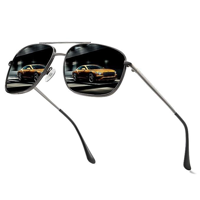 Amazon.com: Vanlinker gafas de sol polarizadas para hombre ...