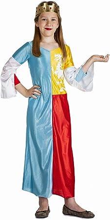 Disfraz de Reina Medieval Niña (5-6 años): Amazon.es: Juguetes y ...