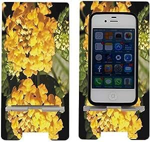 Rikki KnightTM Yellow Lantana Flowers - Smart Cell Phone Holder Charger Stand for iPhone 4/4s/5/5s/5c, Motorola Moto X, Galaxy S3/S4/S5/Note 3/Ace 2, LG Optimus Gpro/G2/L3/4X HD, Sony Xperia Z1S/U, HTC Droid/One/One X/Pro/mini, Blackberry G10/Z10, Nexus 4