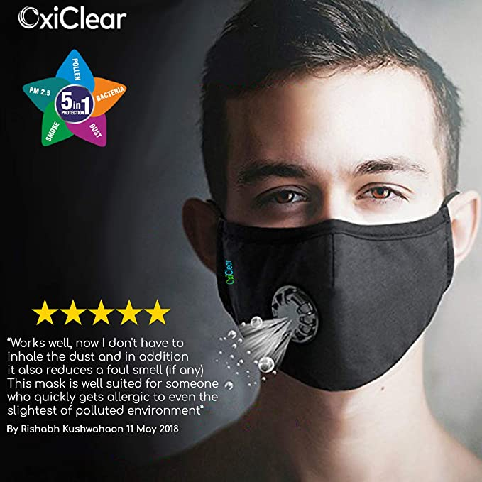db44a8c609 Buy OxiClear Pollution Mask Online at Low Prices in India - Amazon.in