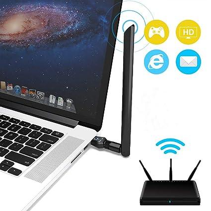 KuWFi - Adaptador USB WiFi (600 Mbps, USB 2.0, Adaptador ...