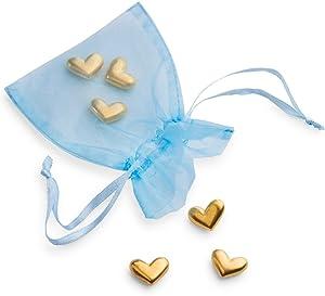 DANFORTH - Vilmain Golden Heart Pocket Tokens, Bag of 6 Pocket Coins - Pewter - Made in USA