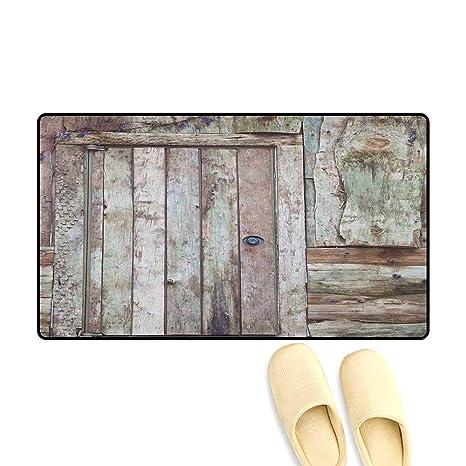 Ordinaire Zojihouse Rustic Door Mats For Inside Non Slip Backing Old Rustic Barn Door  Cottage Country Cabin