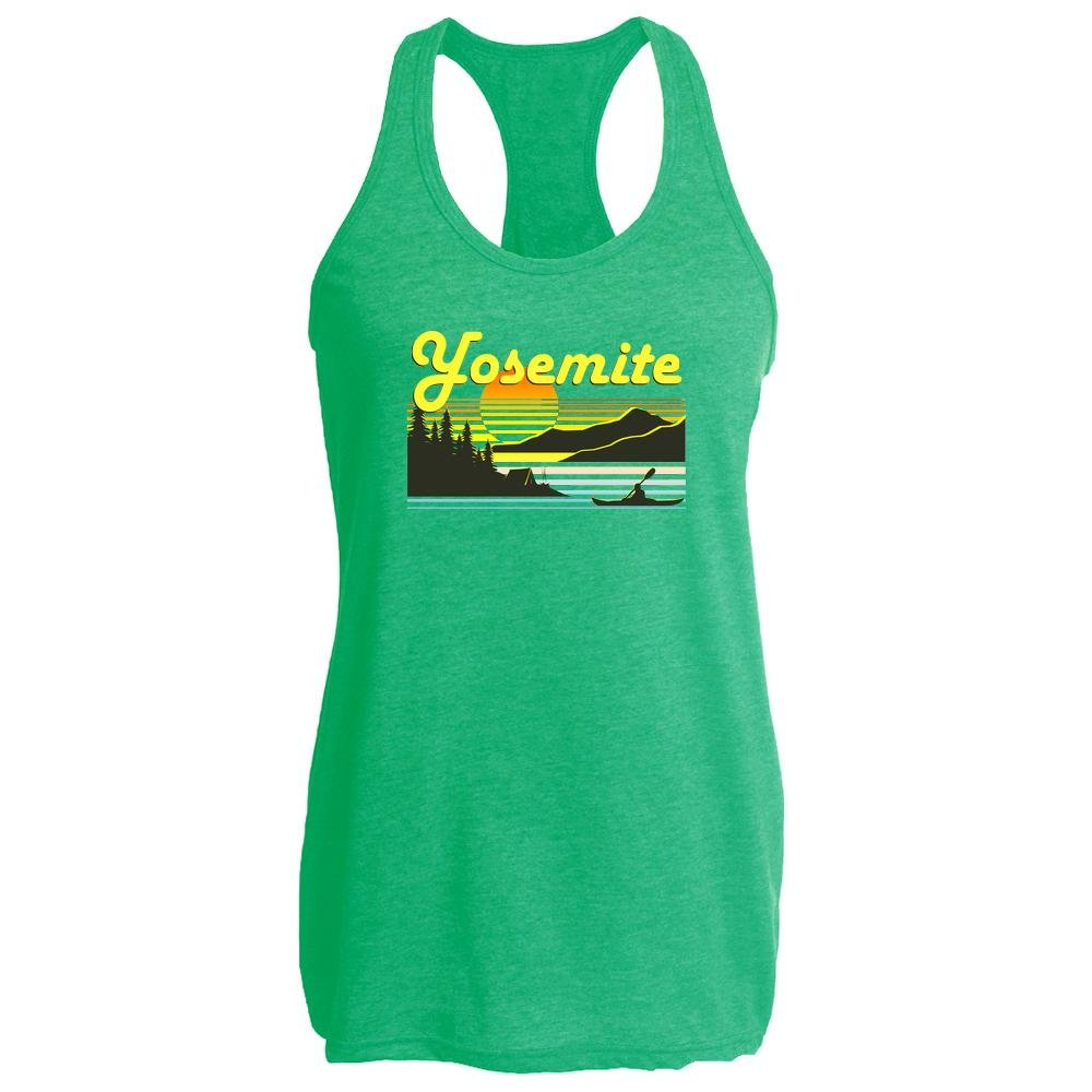 Pop Threads Yosemite Retro Travel Heather Kelly L Womens Tank Top