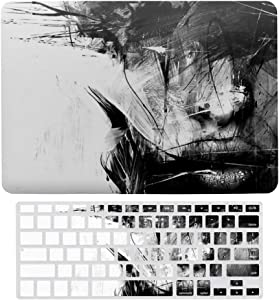 """2 in 1 Laptop Case for Apple MacBook Air 13"""" w A1466/A1369 Rubberized Hard Shell Case Cover & Keyboard Cover(Messy Lines)"""