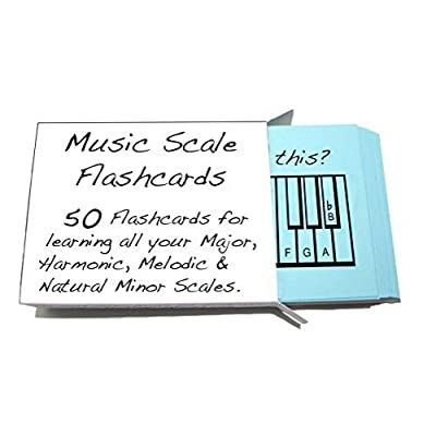 Musical Scale Names Flashcards - Learn or Teach All Your Major, Harmonic Melodic & Natural Minor Scales: Musical Instruments