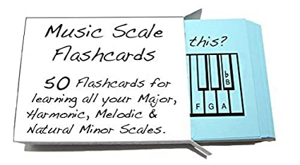 amazon com musical scale names flashcards learn or teach all your
