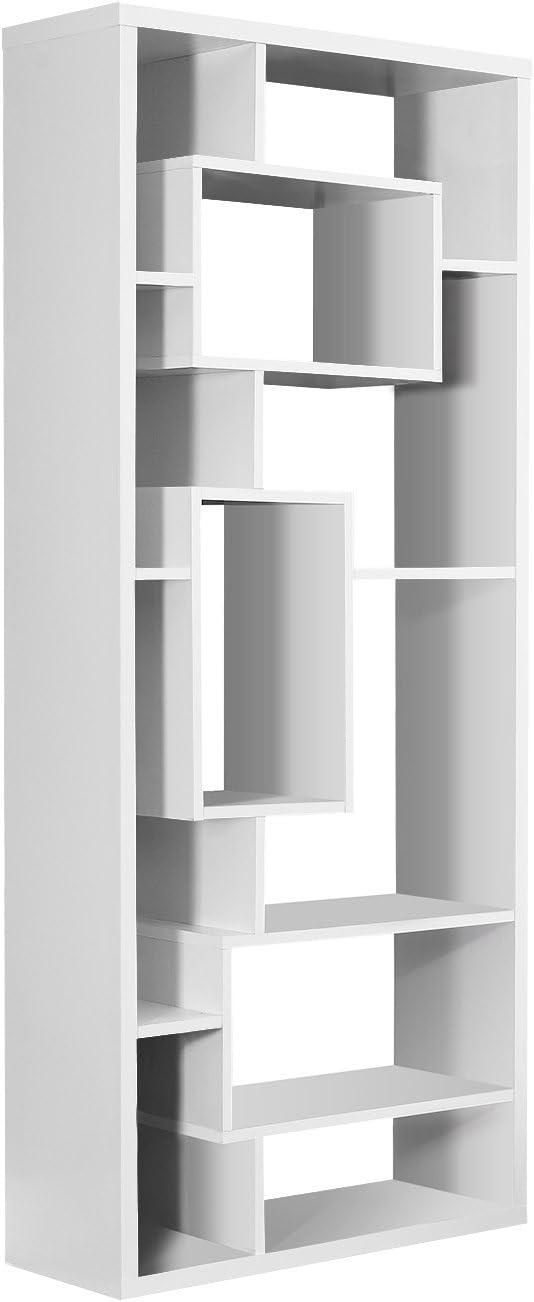 Monarch Specialties White Hollow-Core Bookcase