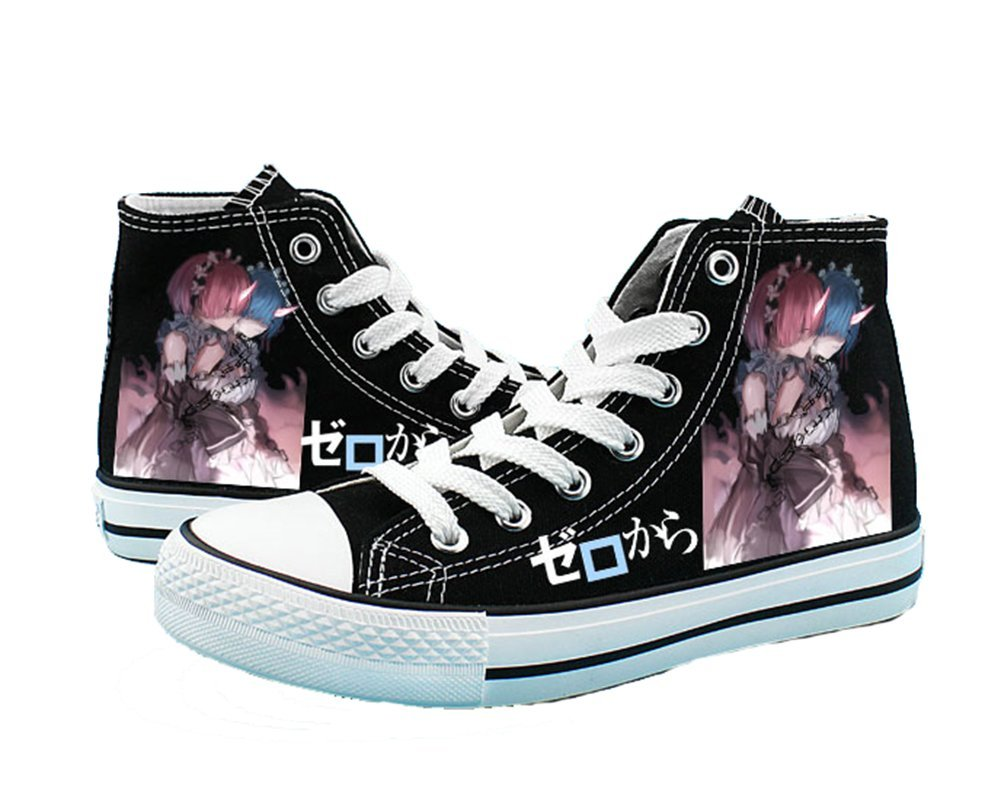 Re:ZERO Starting Life in Another World Cosplay Shoes Canvas Shoes Sneakers Black/White 2