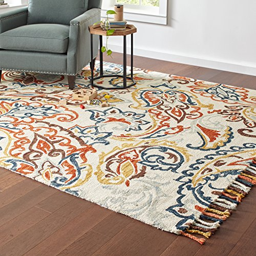 Stone & Beam Swirling Paisley Motif Wool Area Rug, 8' x 10', Multi by Stone & Beam (Image #2)
