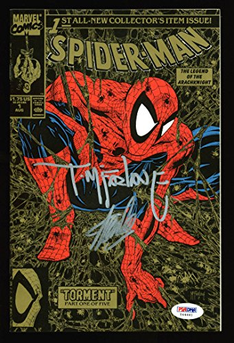 Stan Lee & Todd McFarlane Signed Spider-Man 1990 Torment #1 Comic Gold Cover PSA