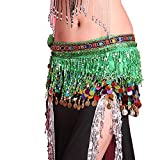 Belly Dancing Belt Colorful Waist Chain Belly Dance Hip Scarf Belt