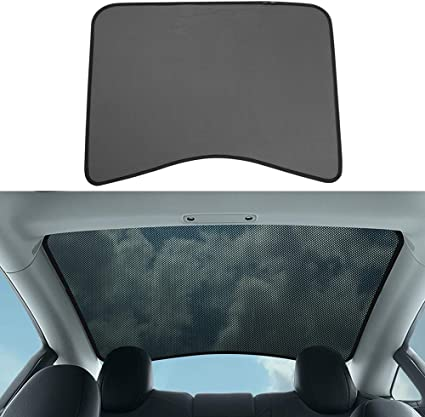 BASENOR Model 3 Front Glass Roof Sunshade Window Sunroof Sun Shade Sun Protection for Tesla Model 3