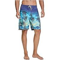 nuosife Swim Trunks Beach Short Quick Dry Eye-catching Vivid HD Pattern 3 Pockets and Drawstring