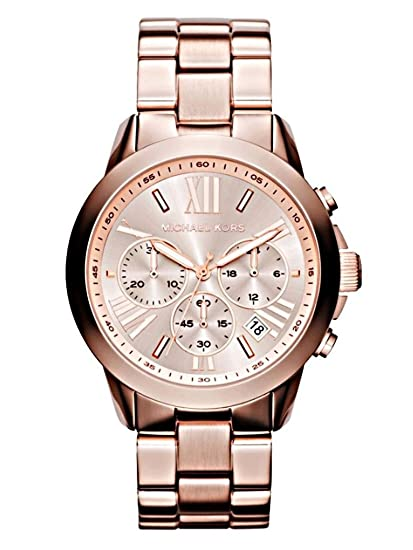ae0113e2ca98c Michael Kors MK5778 Women s Runway Chronograph Rose Gold Dial Rose Gold  Steel Watch  Amazon.ca  Watches