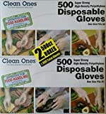1 X 1000 Disposable Gloves (500 ct. x 2 boxes) - FDA Approved