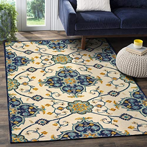 LR Resources Indoor Area Rug, 8 x 10 , Ivory