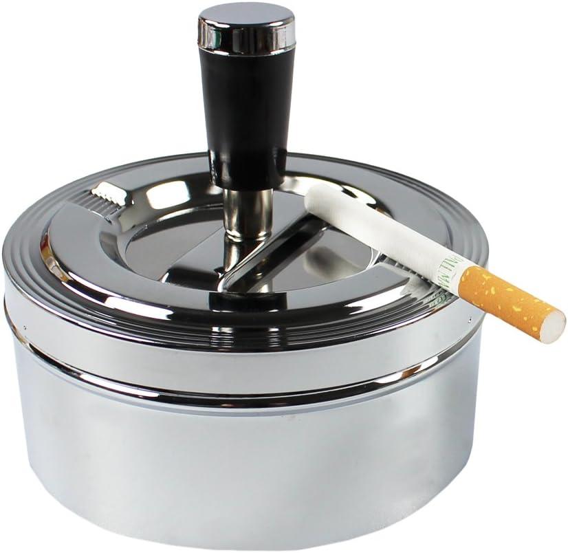 com-four/® Cendrier ferm/é 2X en m/étal pour int/érieur et ext/érieur avec Fonction de Porte Pliante Faltt/ürfunktion - Set of 2 Mix