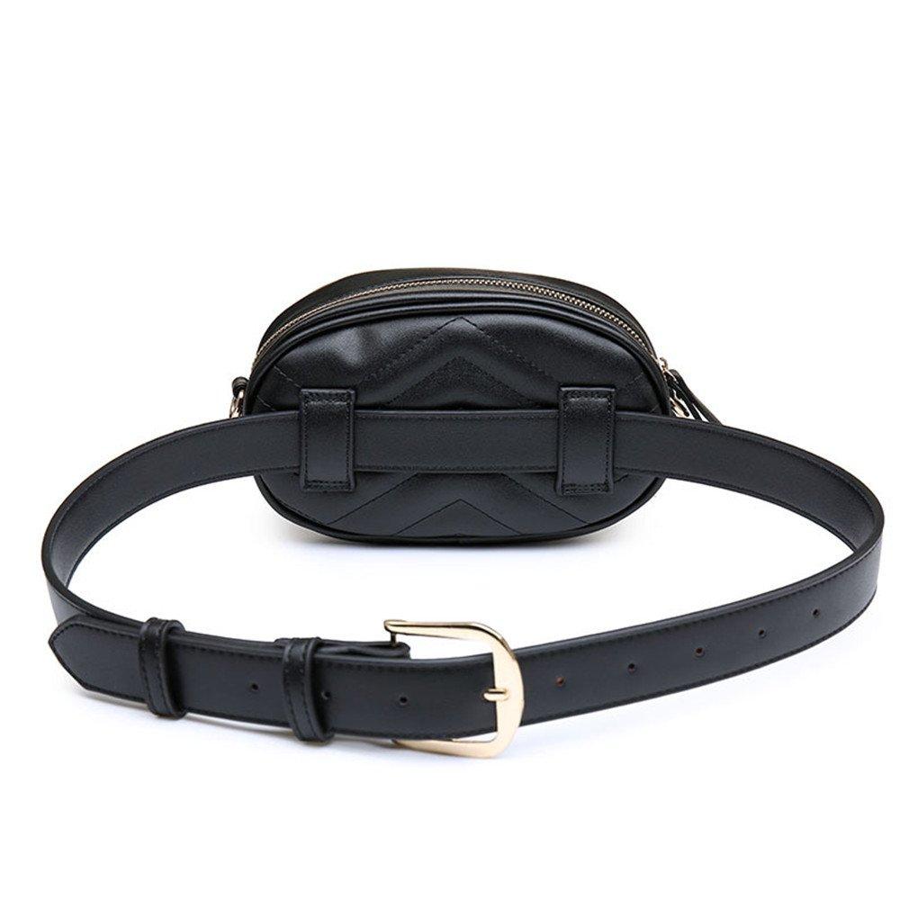 JNHVMC Pu Leather Women Waist Bags Waist Packs Women Shoulder Bags Trendy Design Chain Bags