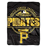 """Officially Licensed MLB Pittsburgh Pirates """"Structure"""" Micro-Raschel Throw Blanket, Black, 46"""" x 60"""""""
