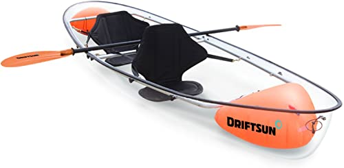 The Best Fishing Sit On Kayak (Fully Clear Hull + Stabilizer, for 2 Persons) [Driftsun] Picture