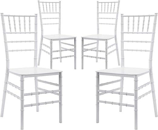 Sedie Da Giardino Bianche.Vandi Set 4 Sedie Da Giardino In Polipropilene Chiavarina Bianche