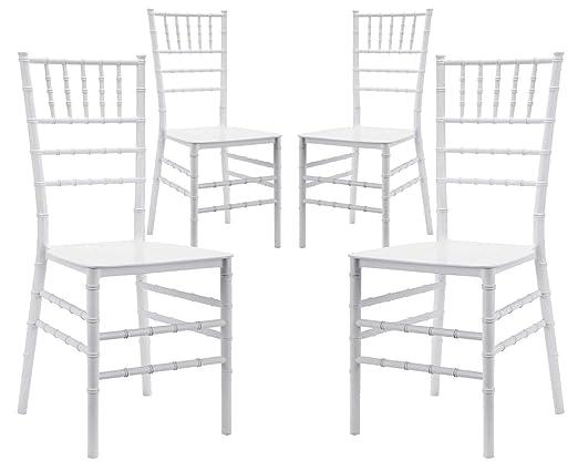 Sedie In Polipropilene Da Giardino.Vandi Set 4 Sedie Da Giardino In Polipropilene Chiavarina Bianche