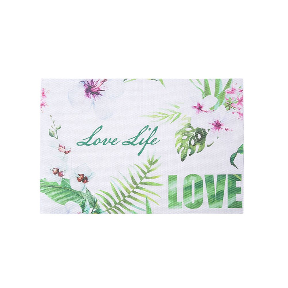 Wnakeli Placemat Table Mat Dining Desk Heat Resistant Cup Mat Printed Flower Table Place Mats for Dining Table Home Restaurant 1Pcs