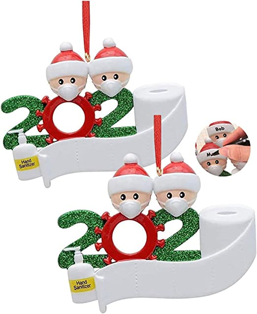Verison Christmas Promotions 2020 Amazon.com: Lemihui 2020 Christmas Ornament, 2 Pack Cute Santa