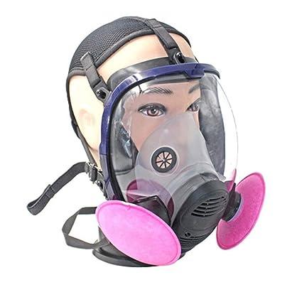 Máscara del respirador, el Polvo Anti Gas químico Completo máscara de protección respiratoria con filtros