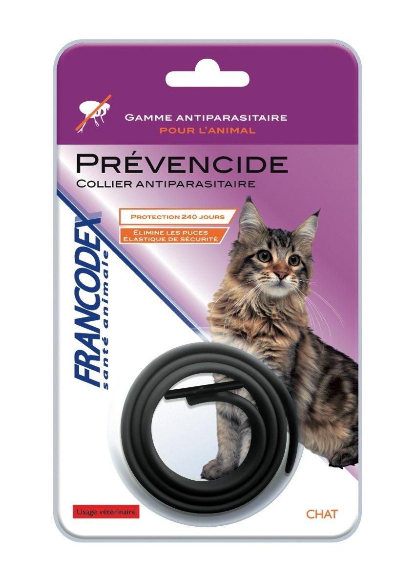 Francodex - Francodex Collier anti-parasitaire Prévencide chat - Noir