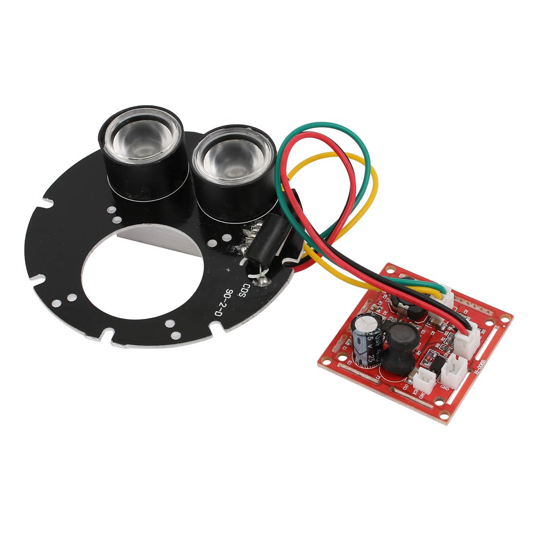uxcell 2 High Power Infrared IR LED Lamp Oval Board Module for CCTV Camera