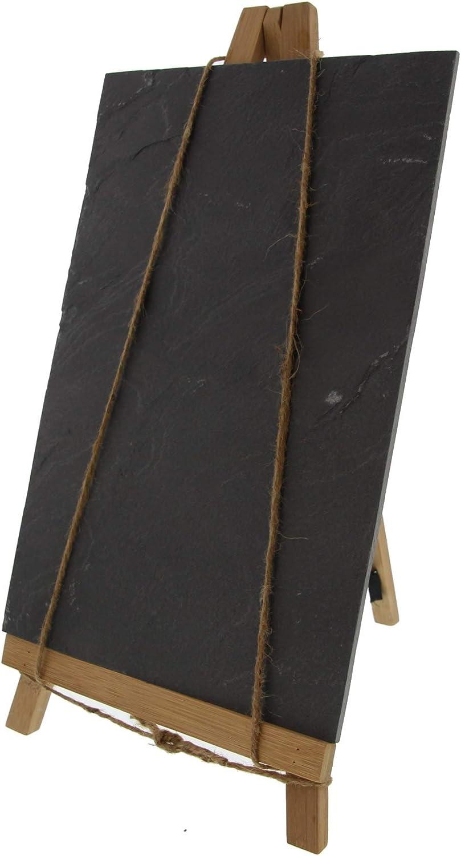 Dielay Tableau sur tr/épied en ardoise et bambou 35 x 20 x 5 cm