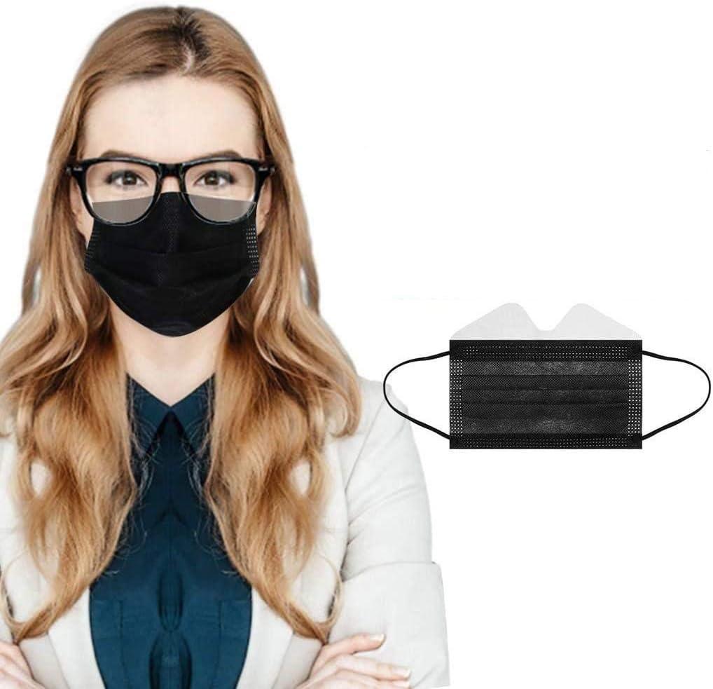 Santen 50 gafas de ojos amigables con la cobertura antivaho, 3 capas, apto para uso de gafas, adolescentes y adultos