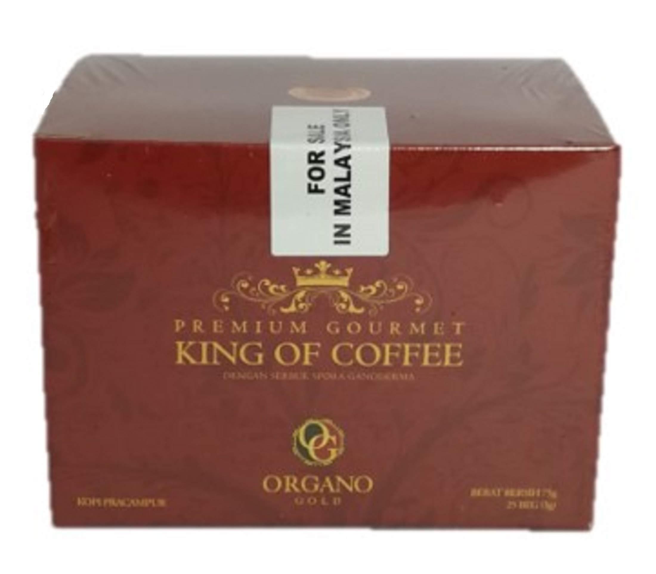 2 Boxes of Organo Gold Ganoderma Gourmet - Gourmet King Coffee (25 sachets)