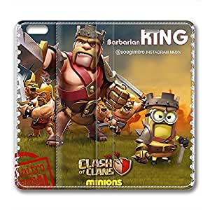 iCustomonline Leather Case for iPhone 6 Plus, Clash Of Clans Ultimate Protection Leather Case for iPhone 6 Plus