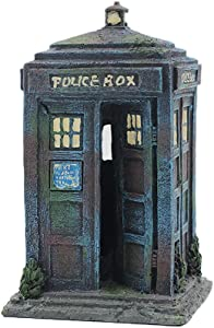 Sunyiny Aquarium Fish Tank Ornament Police Box Telephone Decorations for Fish and Shrimp to Cave Hideouts for Hiding