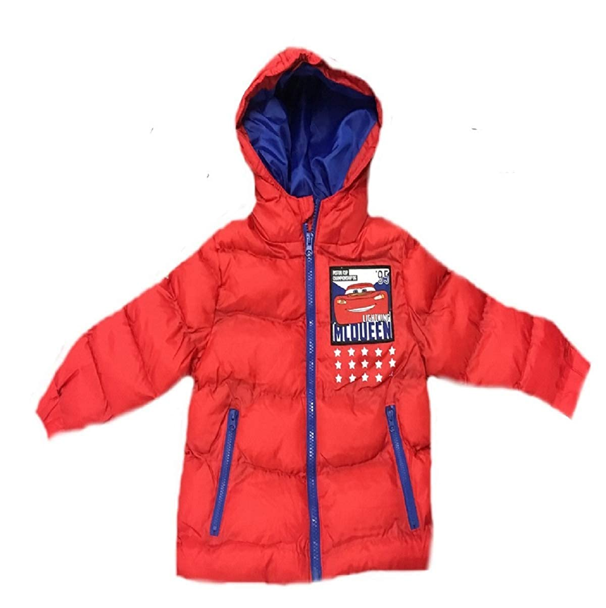 DISNEY, CARS Boys Winter Coat with Hood RED Size 2,4, 6 & 8 Years