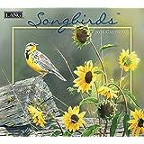 """Lang Wall Calendar """"Songbirds"""" Artwork By Susan Bourdet-12 Month-Open, 13 3/8"""" X 24"""""""