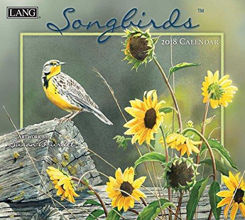 """LANG - 2018 Wall Calendar - """"Songbirds"""" - Artwork By Susan Bourdet ´ - 12 Month - Open, 13 3/8"""" X 24"""""""