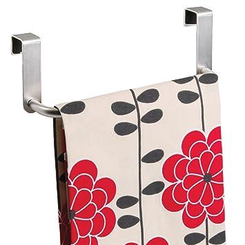 mDesign - Toallero, para colocar sobre perfil de gabinete de cocina; para repasadores - 23 cm - Acero inoxidable cepillado: Amazon.es: Hogar