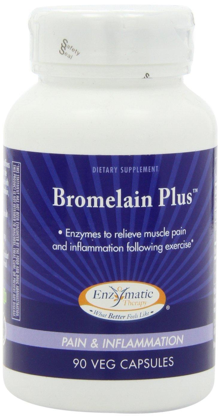 Enzymatic Therapy, Bromelain Plus, 90 Veggie Caps