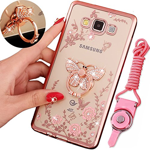 Galaxy On5 (2015 Version) Case , BestAlice Slim Soft Gel Clear Bling Case Rose Gold Metal Plating Bumper Cover &...  samsung on5 case | Galaxy On5 Poetic Case Review (HD) 61kTLJH9WBL