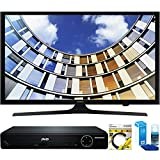 Samsung (UN50M5300AFXZA) Flat 50-Inch 1080p LED SmartTV (2017 Model) with HDMI 1080p HD DVD Player + 6ft HDMI Cable + Universal Screen Cleaner for LED TVs