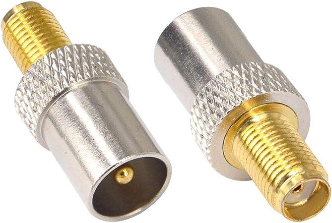 Adattatore da SMA a connettore SMB Set di convertitori RF per Antenna Dab Set di convertitori da SMB a SMA connettore SMA connettore da SMA a SMB convertitore RF Tonysa Adattatore RF