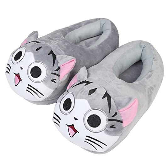 Winter Indoor Slipper - How to Train Your Dragon and Kitty Version Type - Super Soft Velvet and Warm Home Slipper - Lovin (kitty style)