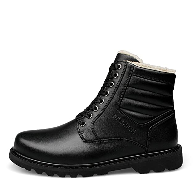 New fashion casual men's boots outdoor velvet anti-skid wear head layer leather boots snow